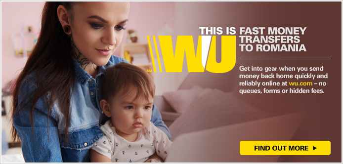 Choose Western Union to send money from the Czech Republic to Romania