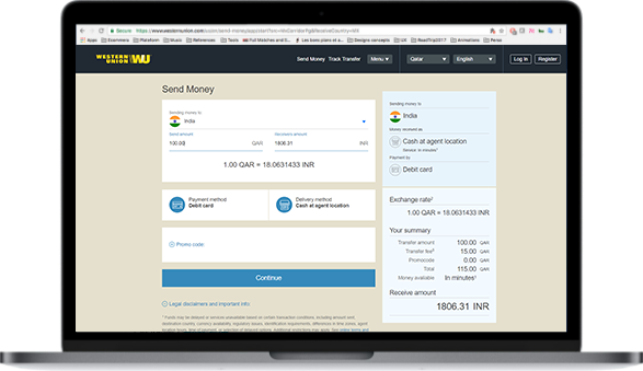 Register online and create your Western Union account