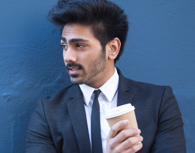 A man with coffee
