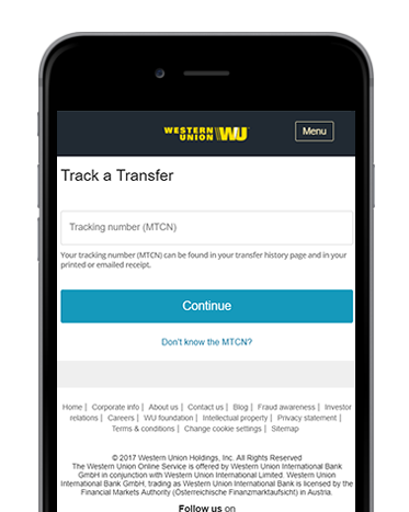 Track your transfer